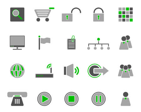 Web icons Stock Vector - 8923605