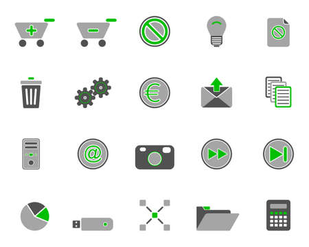 Web icons Stock Vector - 8923606