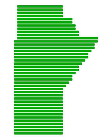 manitoba: Map of Manitoba