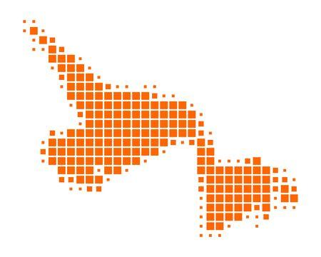 terranova: Mappa di Terranova e Labrador Vettoriali