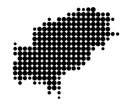 ibiza: Map of Ibiza Illustration