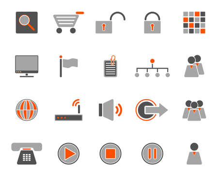 Web icons Stock Vector - 8977693
