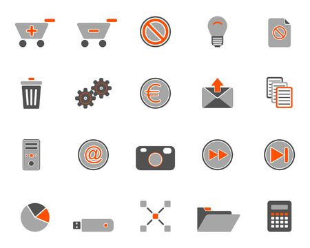 Web icons Stock Vector - 8977696