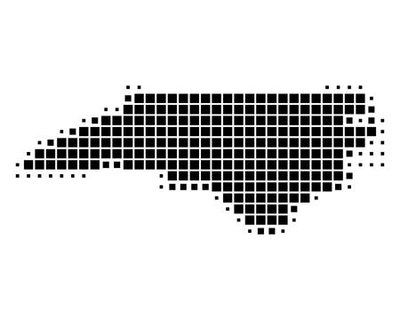 north carolina: Map of North Carolina Illustration