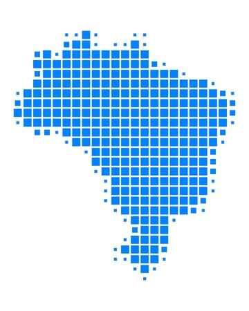 Map of Brazil Illustration