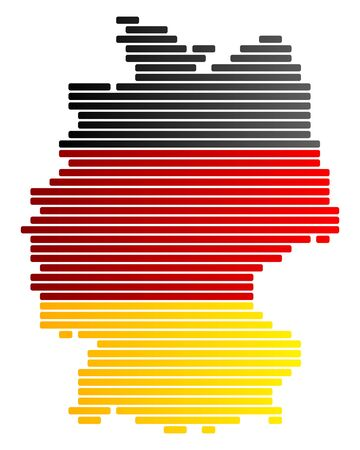 Map and flag of Germany Stock Vector - 9145334