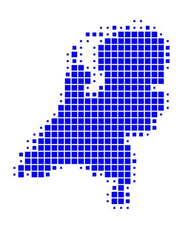 Map of the Netherlands Stock Vector - 9190456