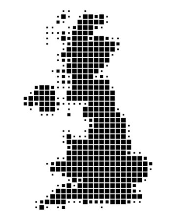 united kingdom: Map of Great Britain Illustration