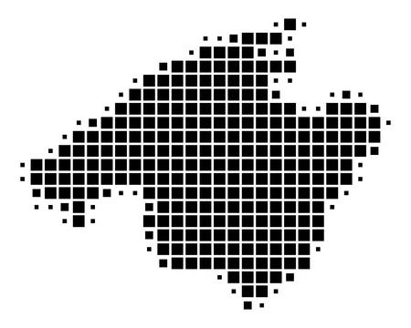 Map of Mallorca Vector