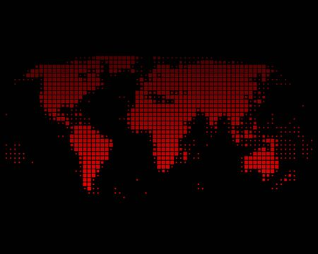 dotted background: World map