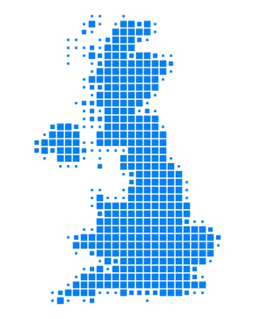 uk map: Map of Great Britain Illustration