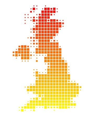 Map of Great Britain Vector