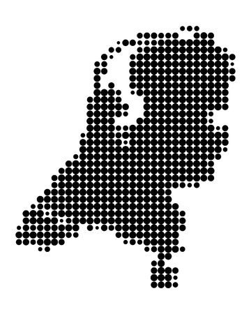 Kaart van Nederland Vector Illustratie