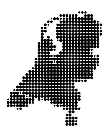 olanda: Mappa dei Paesi Bassi Vettoriali