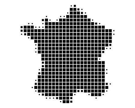 フランスの地図  イラスト・ベクター素材