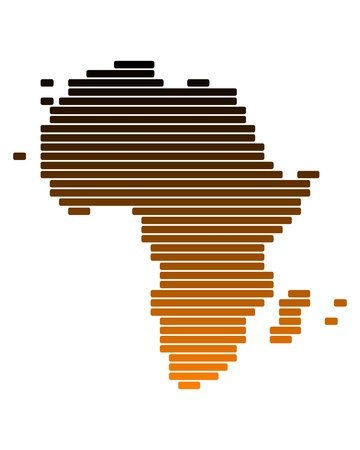 Map of Africa Stock Vector - 9929540