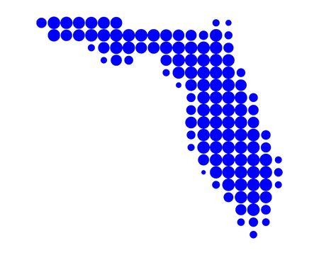 Map of Florida Stock Vector - 10526401