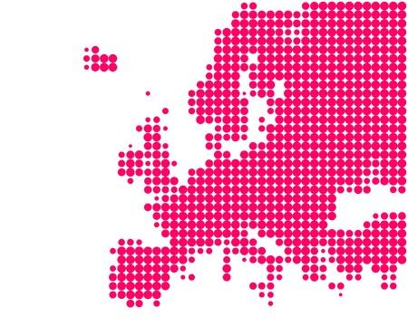 map of europe: Map of Europe Illustration