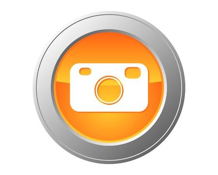 Camera button Banco de Imagens - 10681631
