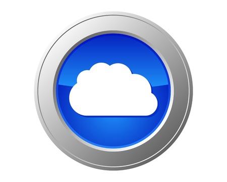 Cloud computing button Illustration