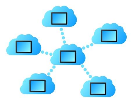 Cloud computing Ilustracja