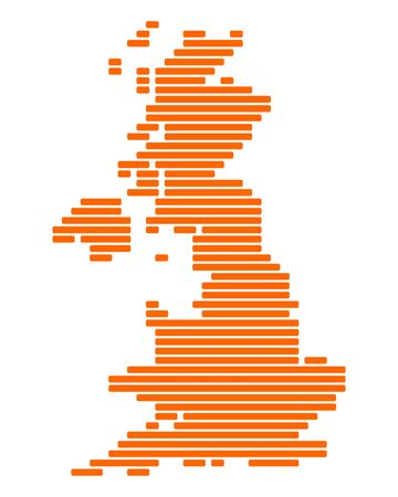 Map of Great Britain Illustration