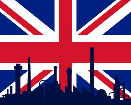 Industry and flag of Great Britain Stock Vector - 12020439