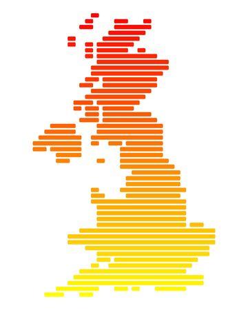 great britain: Carte de la Grande-Bretagne