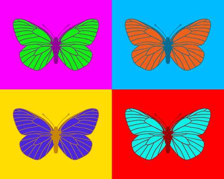 animal vein: Butterflies