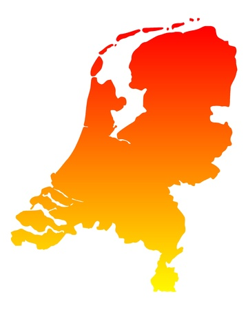Map of the Netherlands Stock Vector - 12493356