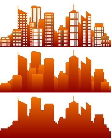 skyline city: City skyline Illustration