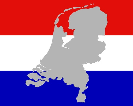 Map and flag of the Netherlands Stock Vector - 12796178