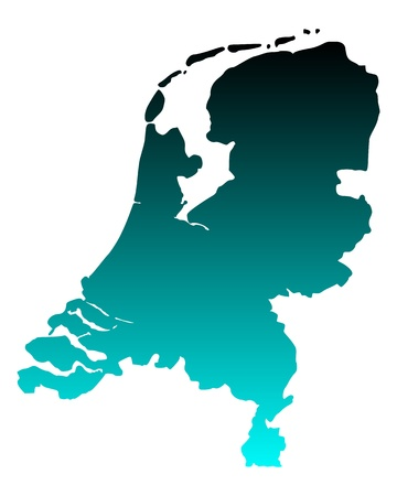 Map of the Netherlands Vector