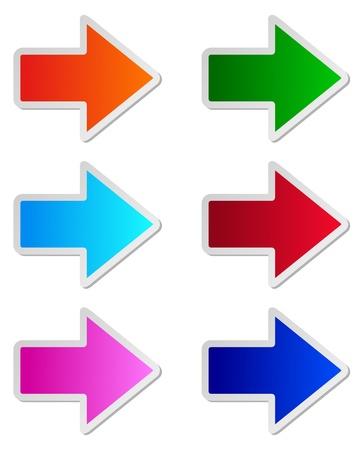 green arrow: Glossy arrows Illustration