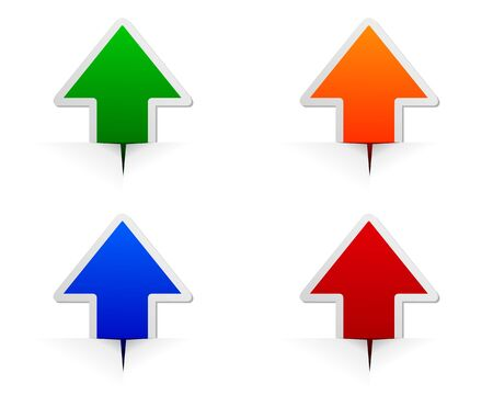 Glossy arrows  イラスト・ベクター素材