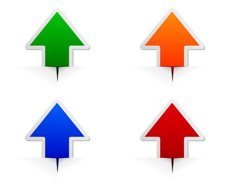 Glossy arrows Vectores