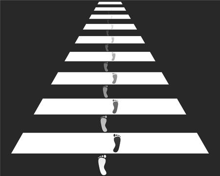 passage pi�ton: Traverser � pied