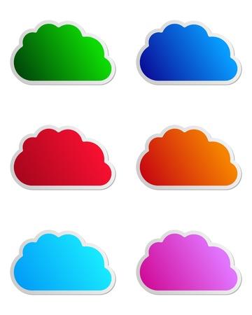 Cloud labels Stock Vector - 12999565