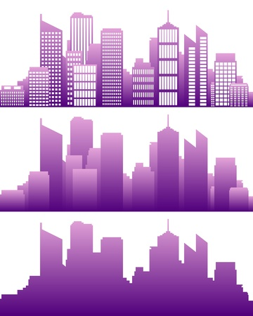 city panorama: City skyline Illustration