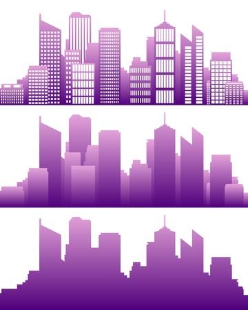 Skyline van de stad Stock Illustratie