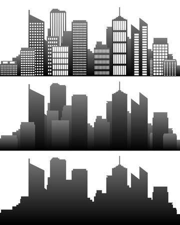 City skyline Ilustrace