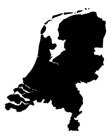 Map of the Netherlands 版權商用圖片 - 13248424