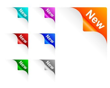 New paper corner Vector