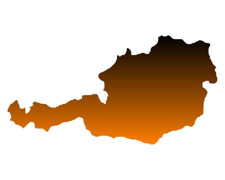 Map of Austria Stock Vector - 13329358