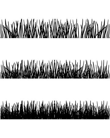 Grass silhouetten Stock Illustratie