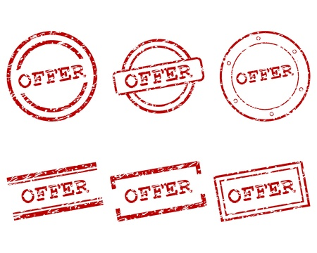 Offer stamps Stock Vector - 13329373