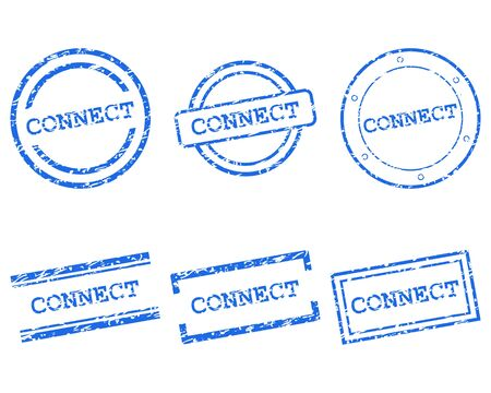 Connect stamps Stock Vector - 13379425