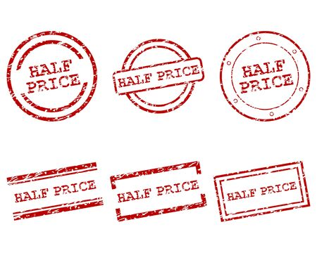 Half price stamps Vector