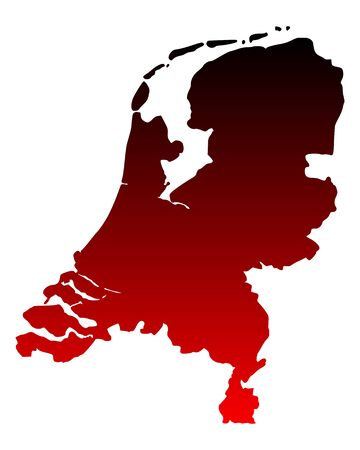 Map of the Netherlands Stock Vector - 13439605