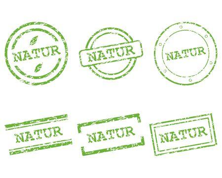 natur: Natur francobolli Vettoriali